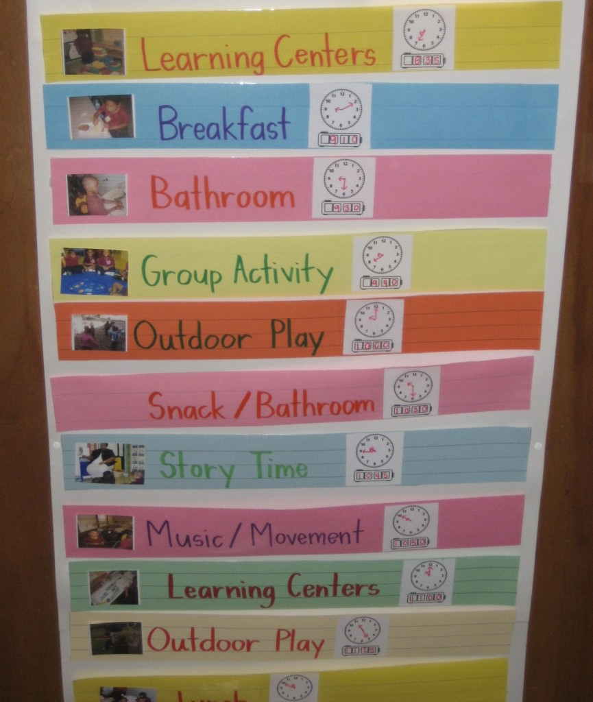 For Parents Who Like Routine And Sanity on Preschool Visual Schedule Printable