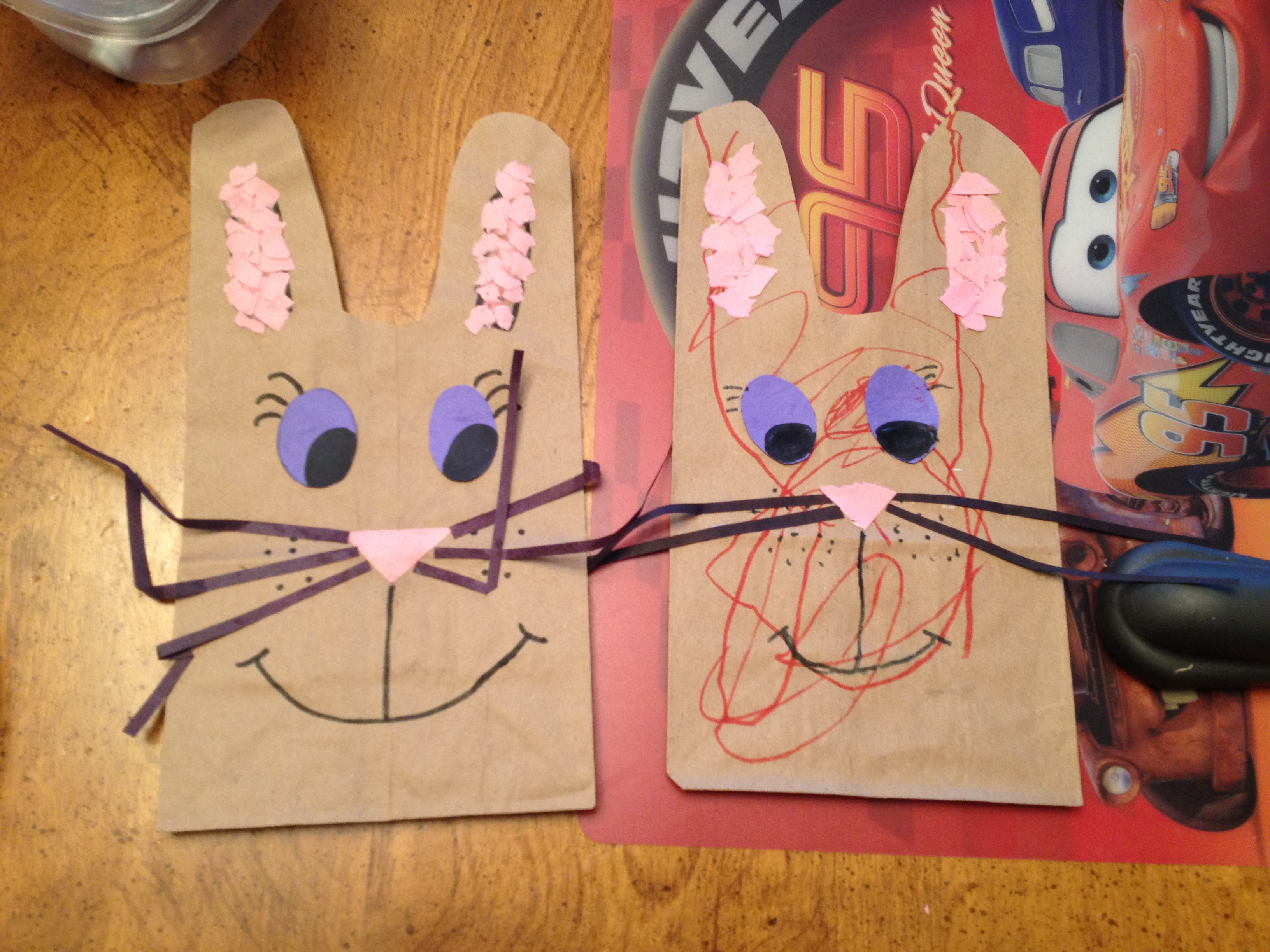 Cheap and easy easter bunny gift baggie the mommy teacher way better than a gift bag was this little craft idea i found in my teacher shed the one on the left is my example and the one on the right is the one negle Choice Image