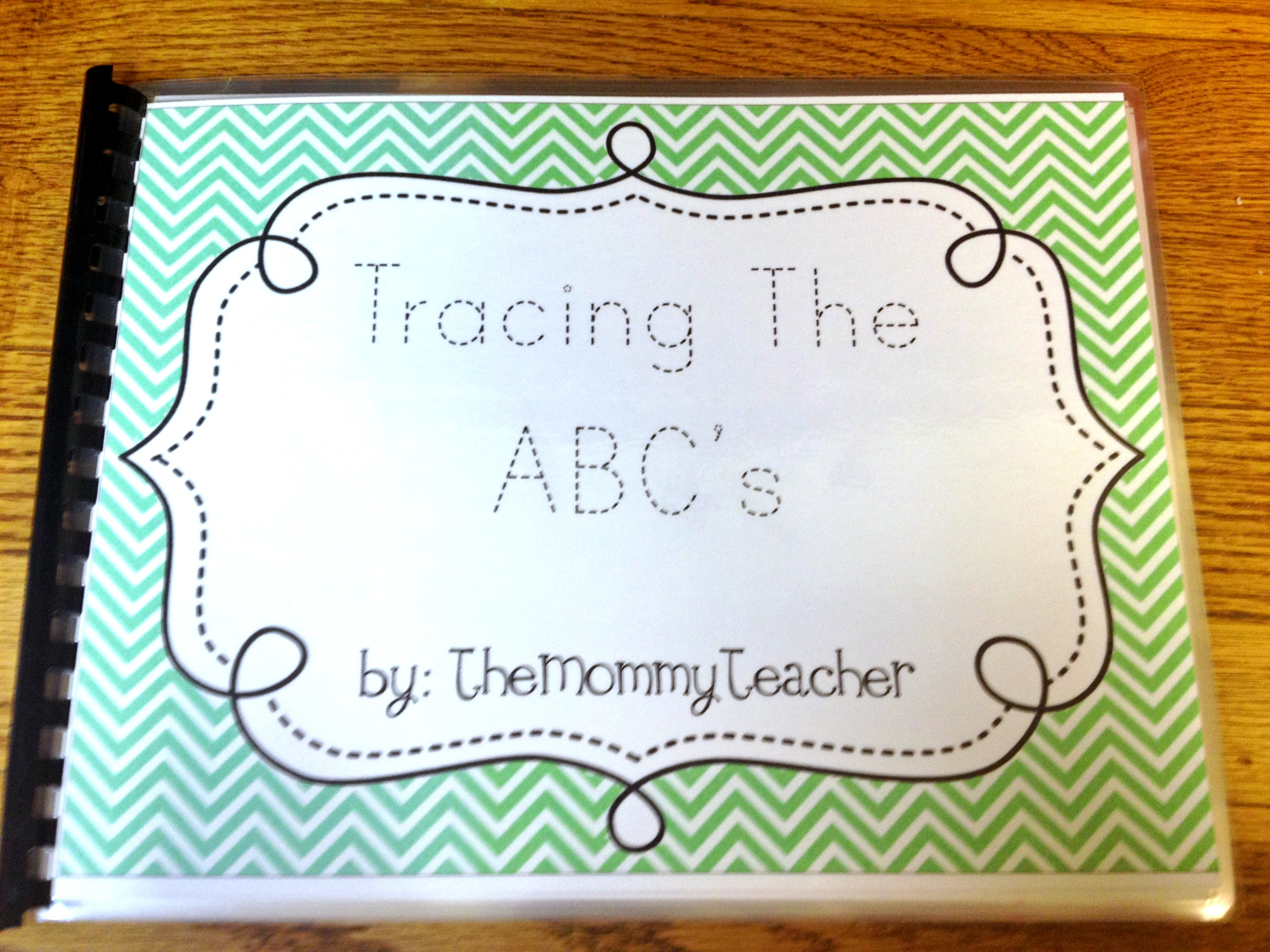 Tracing the abcs book the mommy teacher tracing the abcs book altavistaventures Image collections