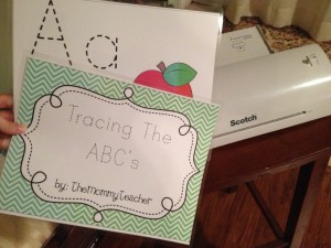 laminating abc book 1