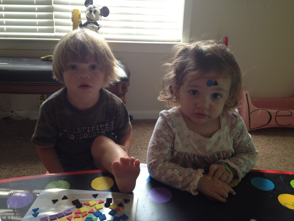 This is what happens when the 19 month old is around the stickers.