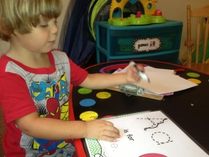 tracing a with marker