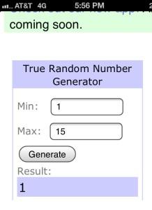 random generator pick
