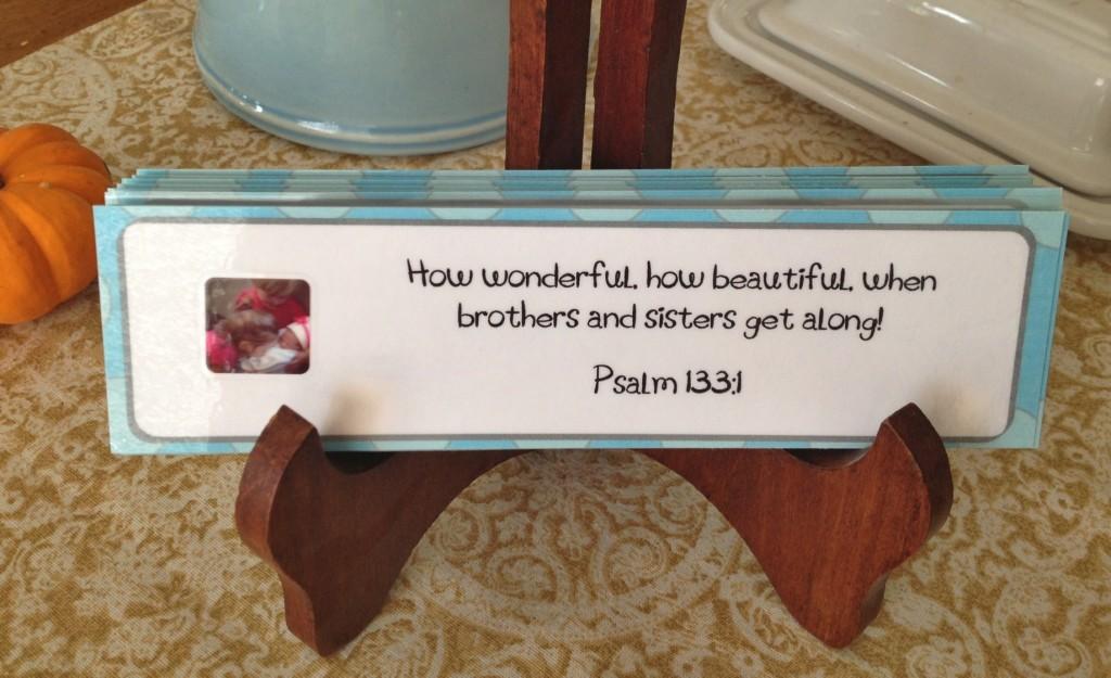displaying Scripture Cards