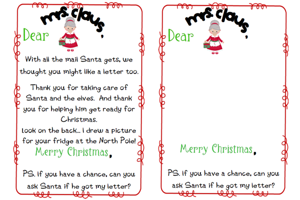 Write Letters To Mrs Claus