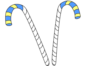 Candy Cane Templates.blueandyellow