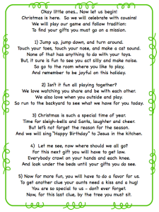 A Fun Scavenger Hunt Riddle to Make Gift-giving even more special for kids!