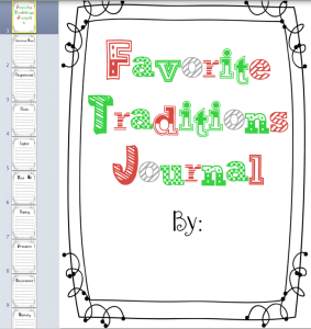 Favorite Traditions Journal