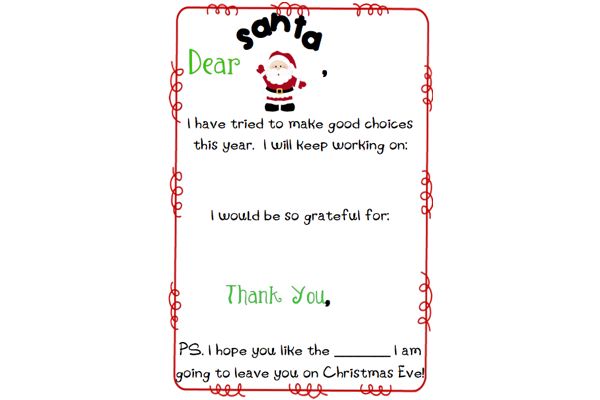Letter To Santa Template | The Mommy Teacher
