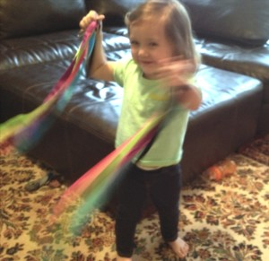 dancing with ribbon streamers