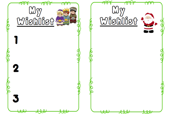 Wishlist Templates For Fb.001  Christmas Wish List Printable