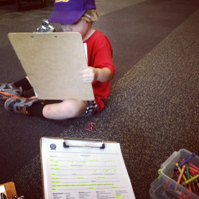 Preschooler Activity for Waiting Room
