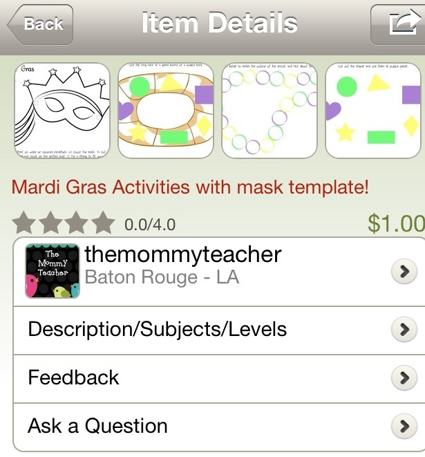 The Mommy Teacher Mardi Gras Activities on TPT