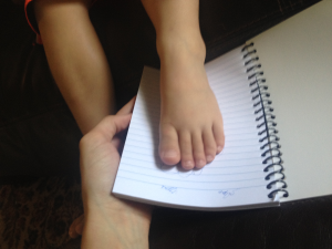 tracing foot