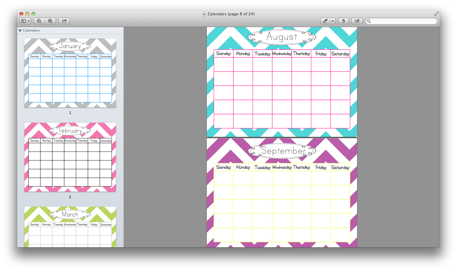 Calendar Printables For Teachers : Calendar templates the mommy teacher