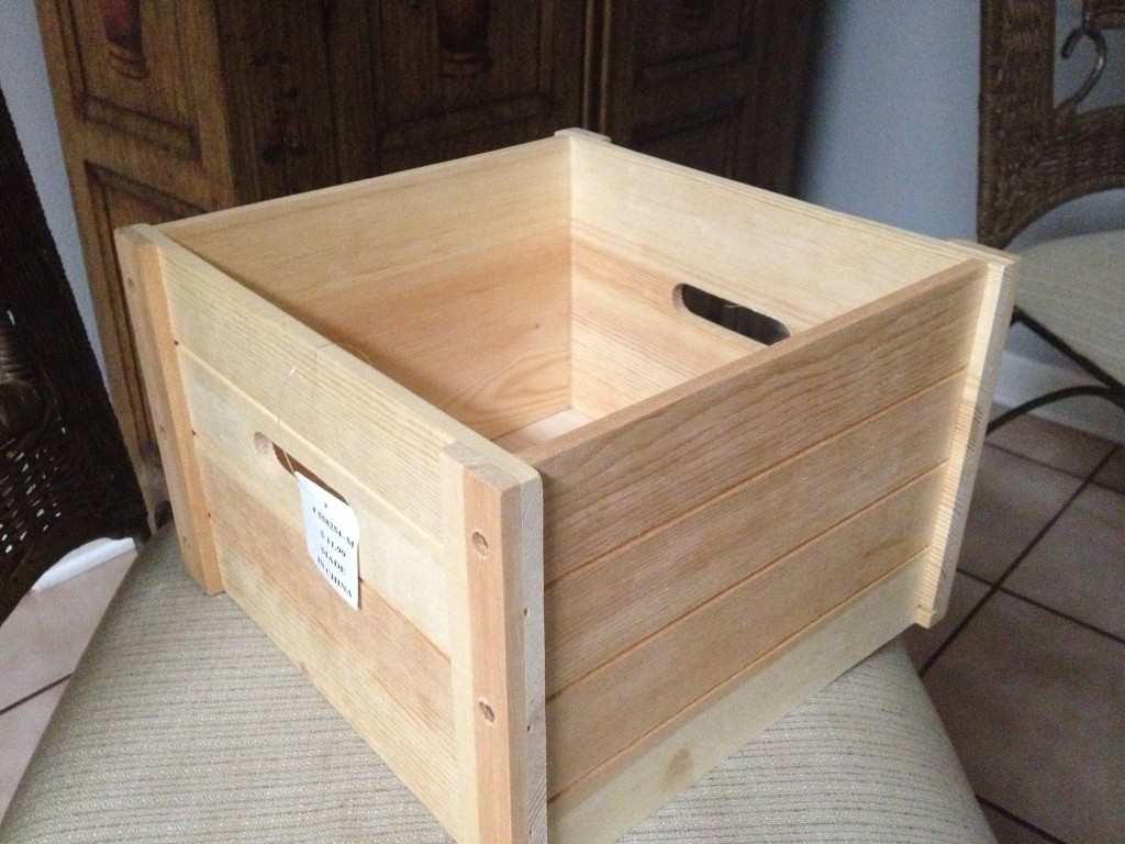 Wooden Crate from Hobby Lobby
