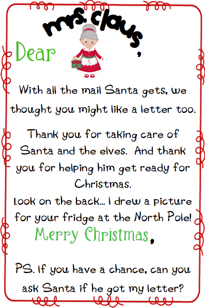 official pole mail personalized letters from santa write a letter to mrs claus 875